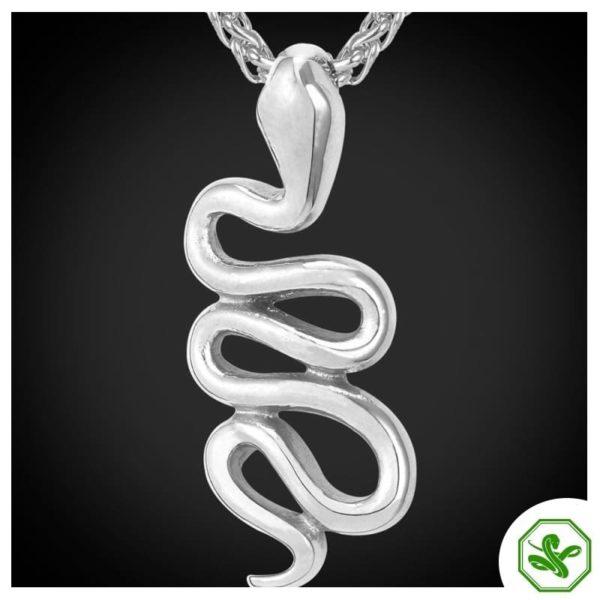 silver snake pendant