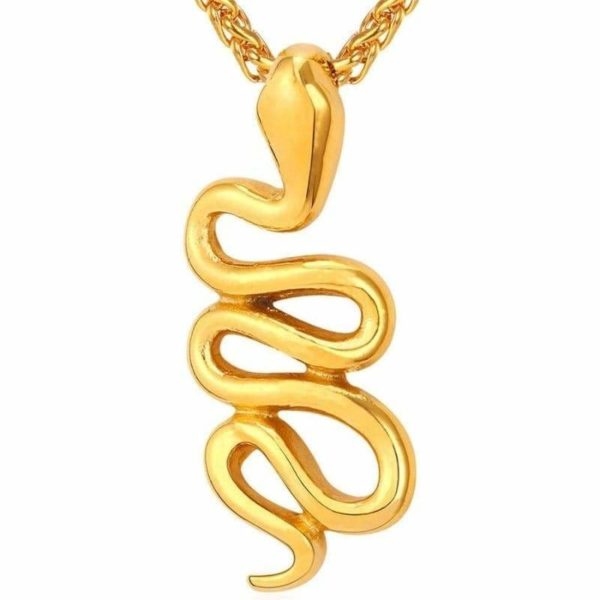 golden snake necklace