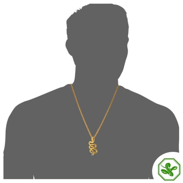 elegant gold snake necklace