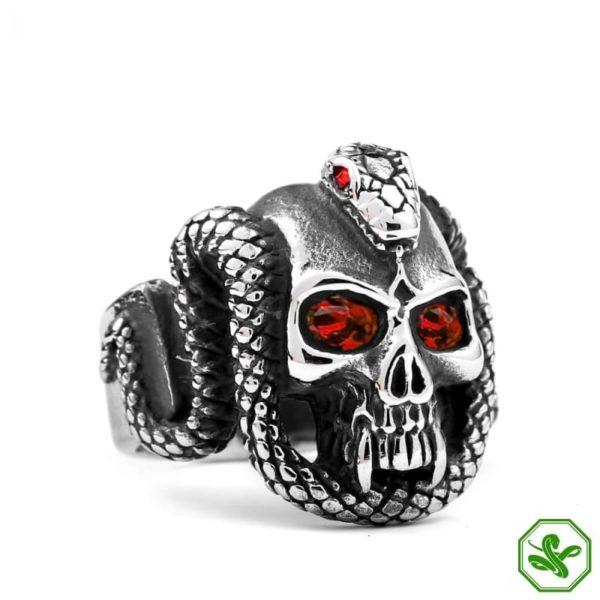 Gothic Snake Ring Red Eyes