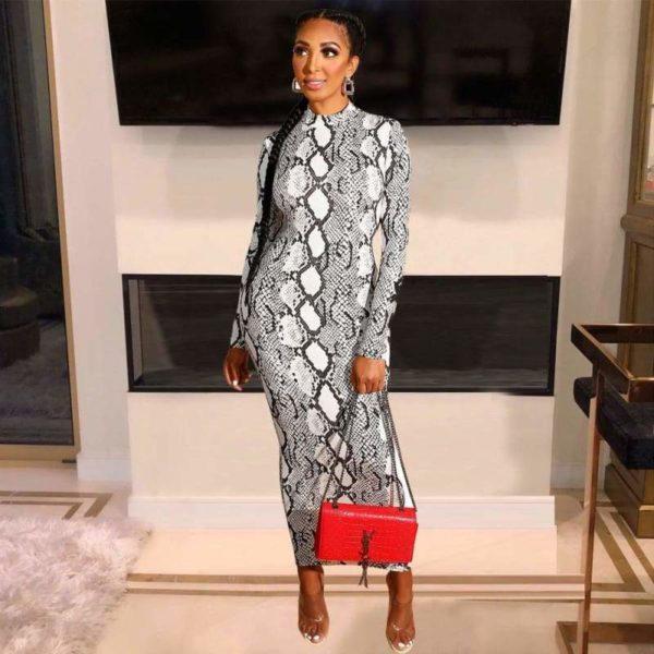 Gray Snakeskin Dress