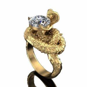 mythology-snake-ring