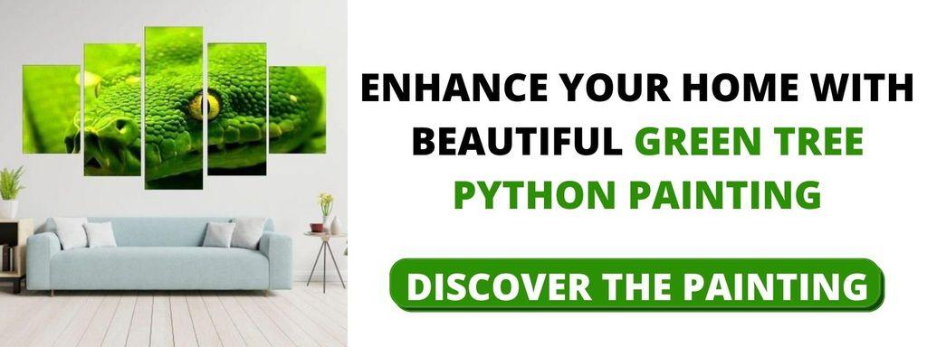 Green Tree Python Painting