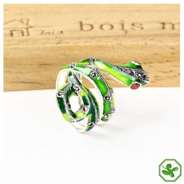 Green Snake Ring Mamba