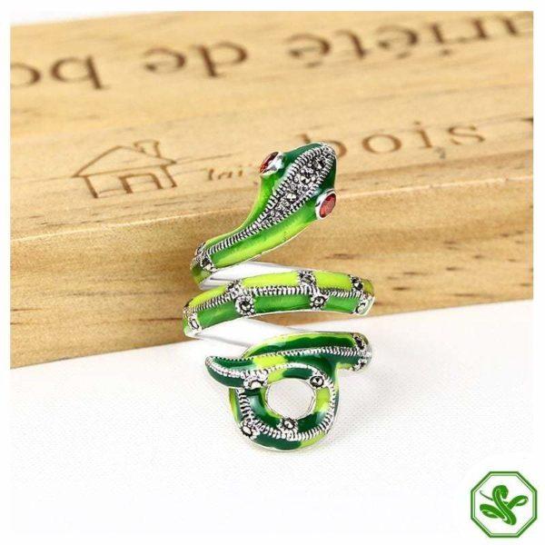 Green Serpent Ring