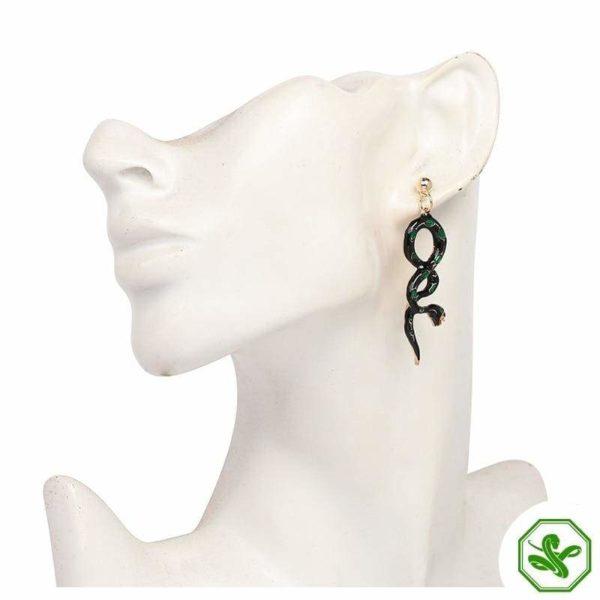 Green Snake Earrings 4