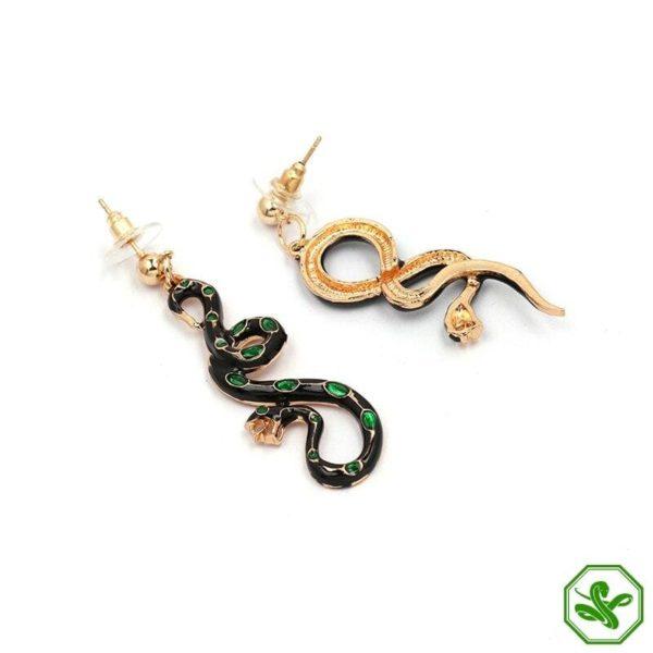 Green Snake Earrings 3