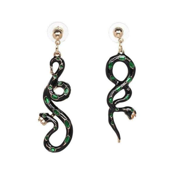 Green Snake Earrings 1