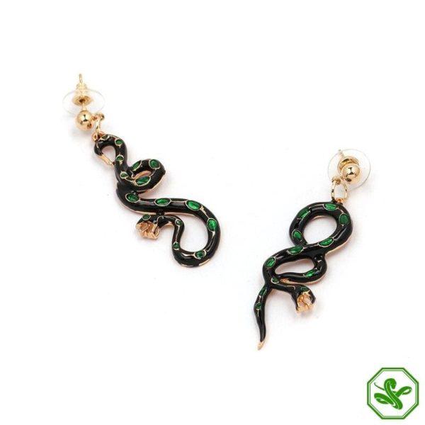 Green Snake Earrings 2