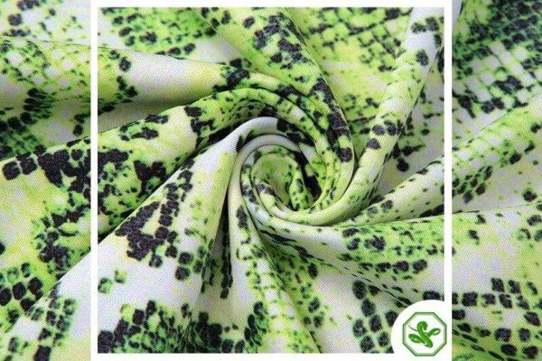 Green Snake Print Dress 5