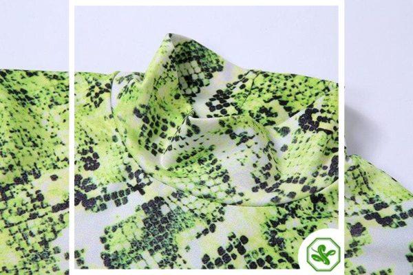 Green Snake Print Dress 4