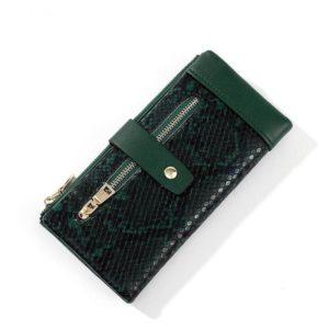 Green Snake Print Wallet