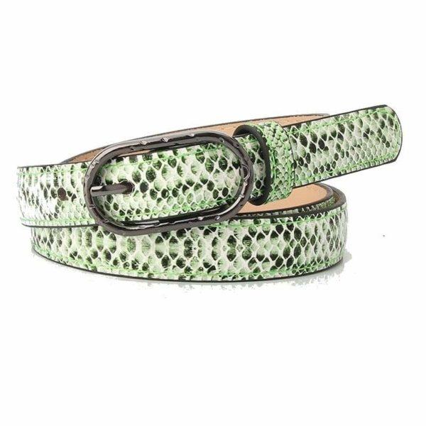 Green Snakeskin Belt