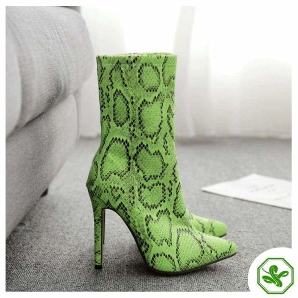 lime green snakeskin boots