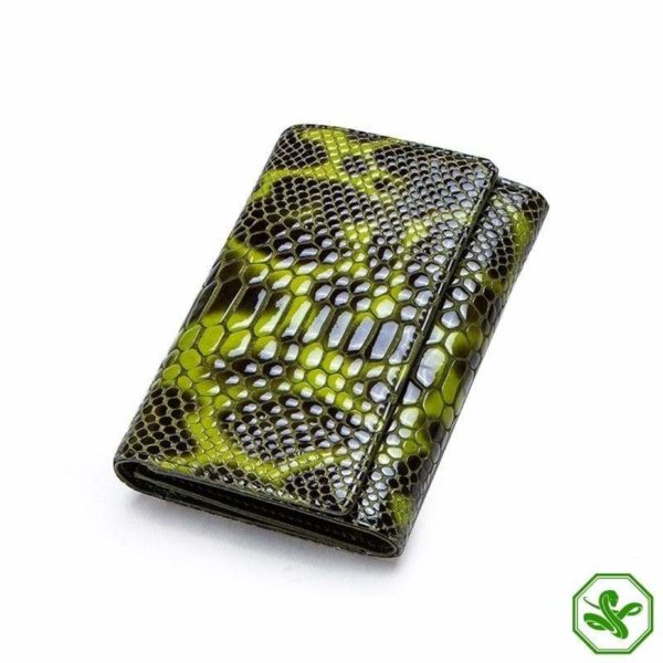 Small Green Snakeskin Wallet