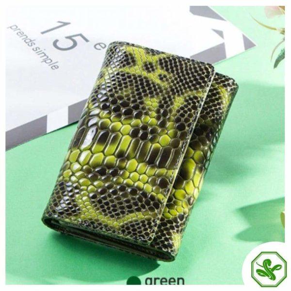 Green Snakeskin Wallet for Women