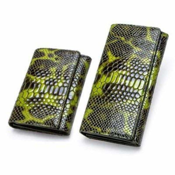 Green Snakeskin Wallet