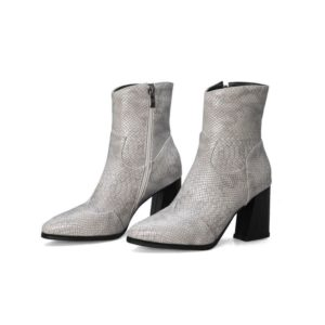Grey Snake Ankle Boots 1