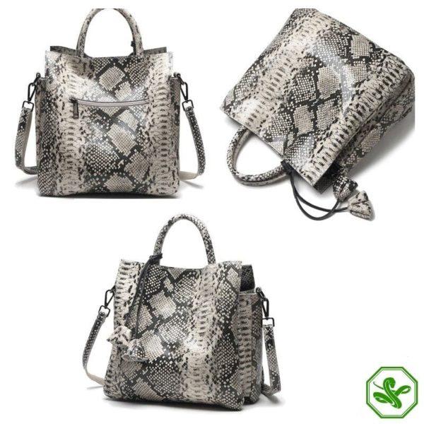 Grey Snake Print Bag 5