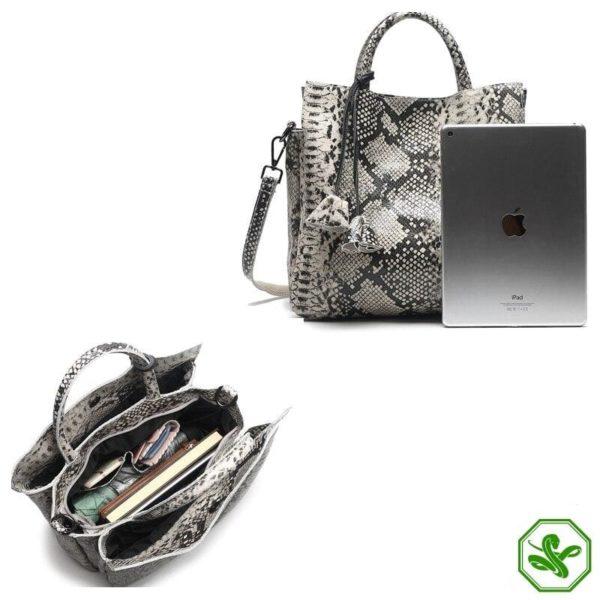 Grey Snake Print Bag 6