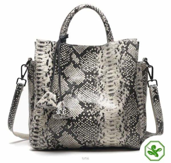 Grey Snake Print Bag 8