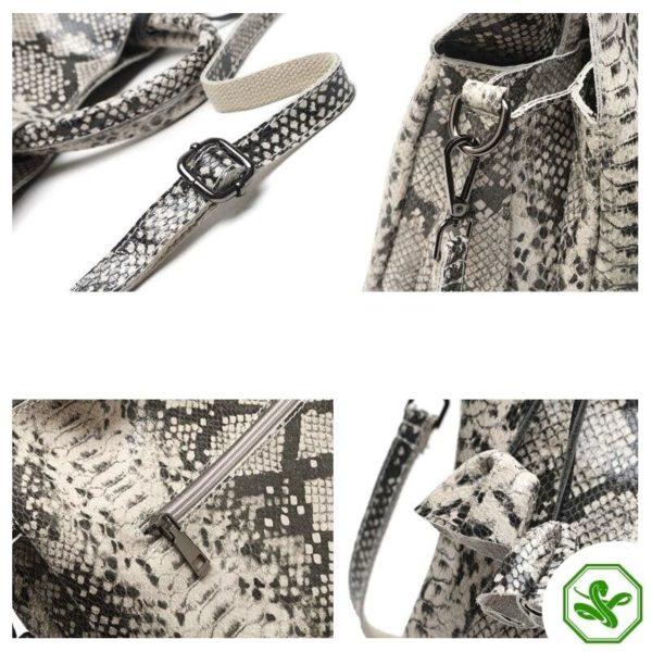 Grey Snake Print Bag 7