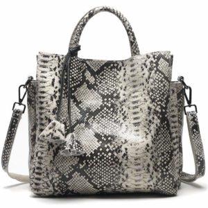 Grey Snake Print Bag 1