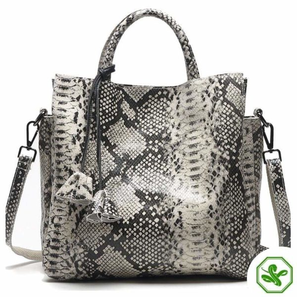 Grey Snake Print Bag 2