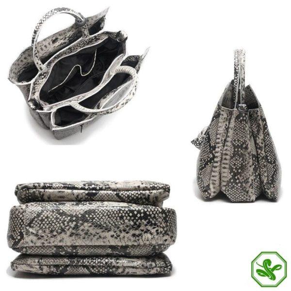 Grey Snake Print Bag 4