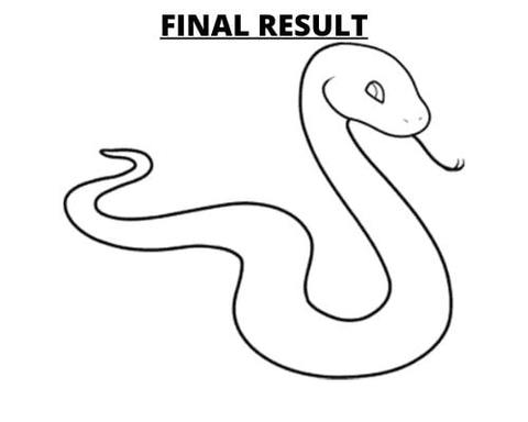 How To Draw A Snake Last Step