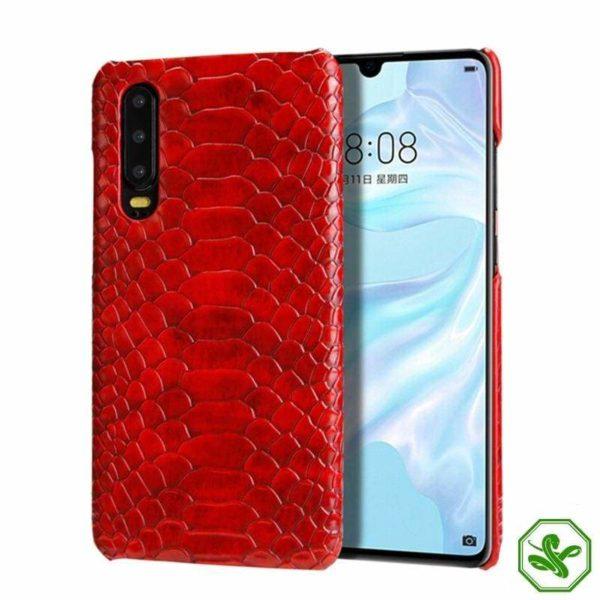 Huawei Snakeskin Phone Case red