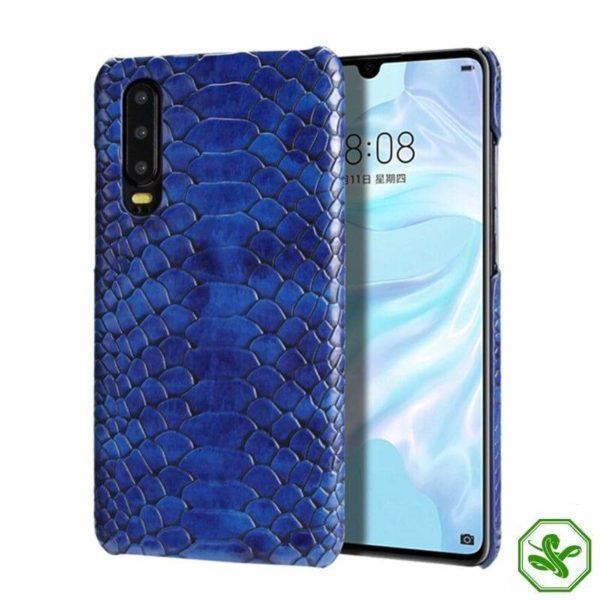 Huawei Snakeskin Phone Case Blue