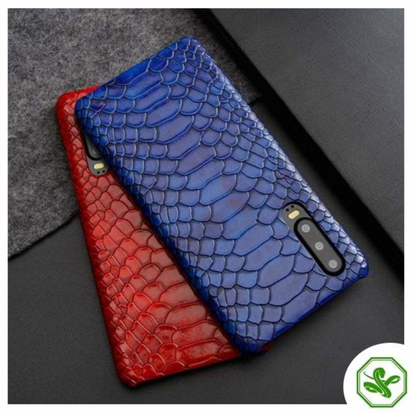 Huawei Snakeskin Phone Case red and Blue