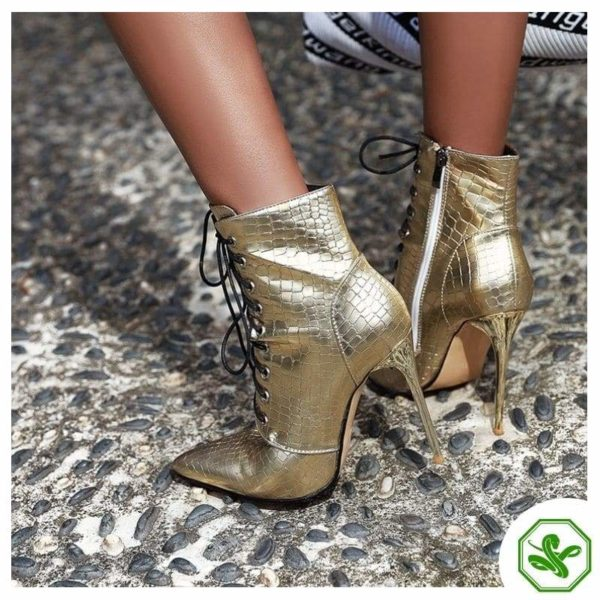 gold boots for woman