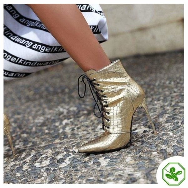 gold boots woman