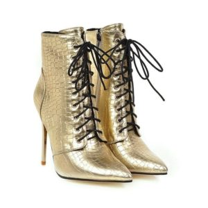 gold boots for women