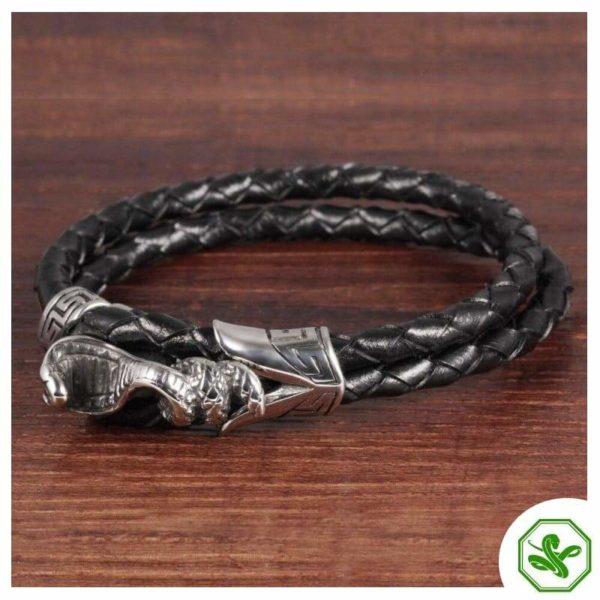 snake leather bracelet for men