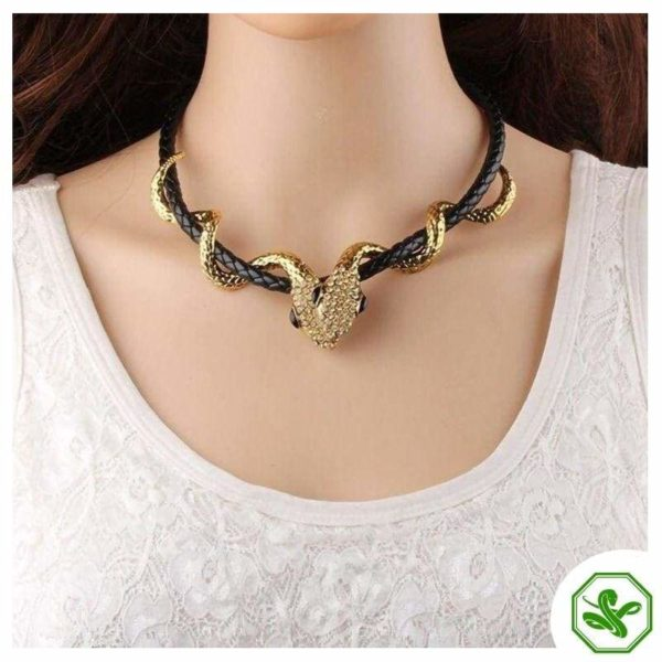 Leather Snake Necklace 3