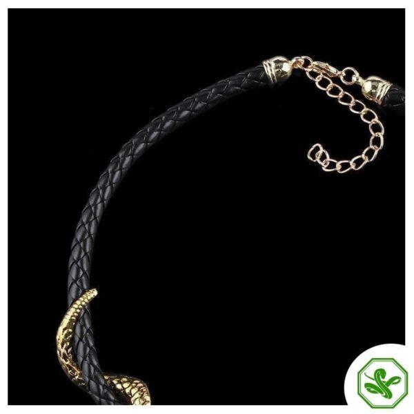 Leather Snake Necklace 4