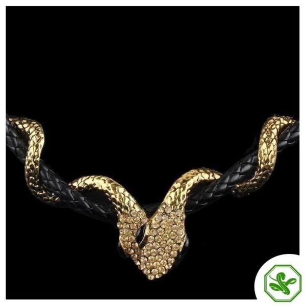 Leather Snake Necklace 2