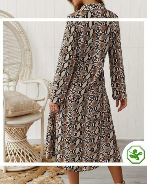 Long Snakeskin Dress 3