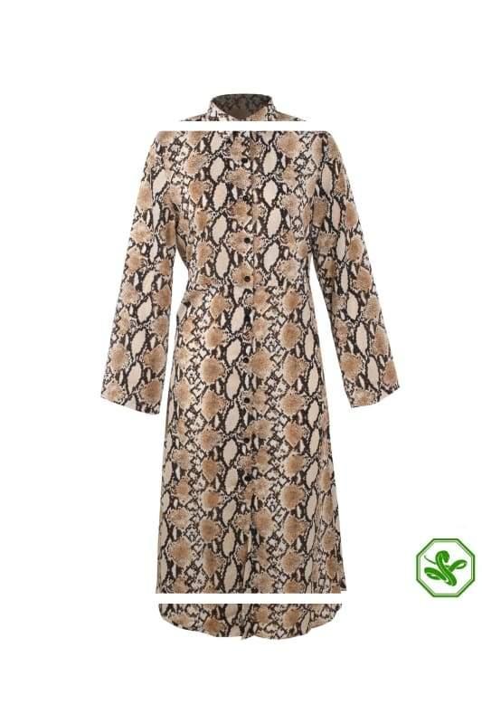Long Snakeskin Dress 4