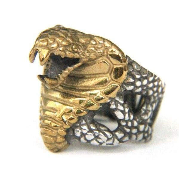 mens-gold-snake-ring 1