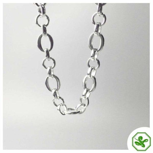 men snake chain silver