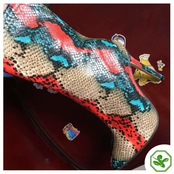 colored heel boots
