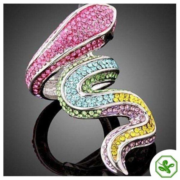 Multicolor Snake Ring 2