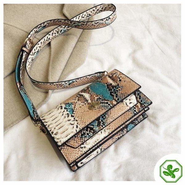 Multicolor Snakeskin Bag 16