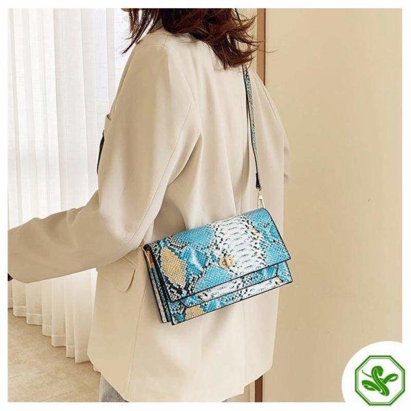 Multicolor Snakeskin Bag 23