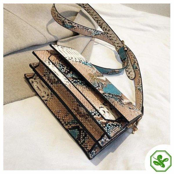 Multicolor Snakeskin Bag 19