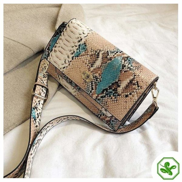 Multicolor Snakeskin Bag 18